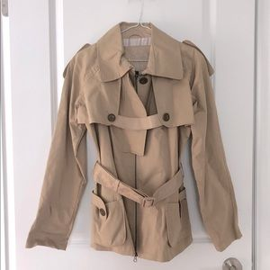 Mackage military style convertible Trench coat-new
